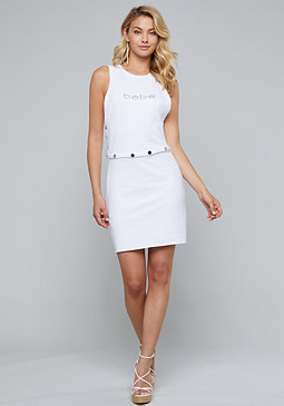 bebe Logo Terry Snap Off Dress