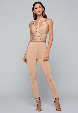 Studded Bandage Catsuit at bebe