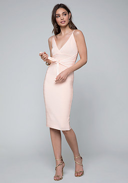 bebe Minerva Tie Bandage Dress