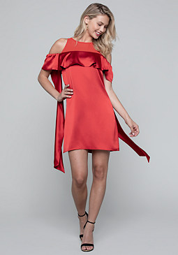 bebe Scarf Sleeve Dress