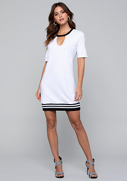 bebe Logo Laurel Leaf Dress