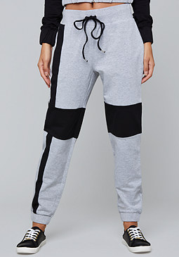 bebe Logo Colorblock Sweatpants