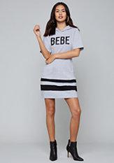 bebe Logo Hoodie Dress