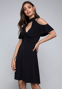 bebe Chain Trim Dress