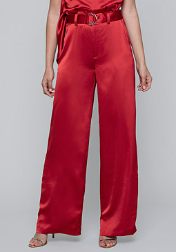 bebe Satin Paper Bag Waist Pants