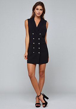 bebe Crossback Vest Dress