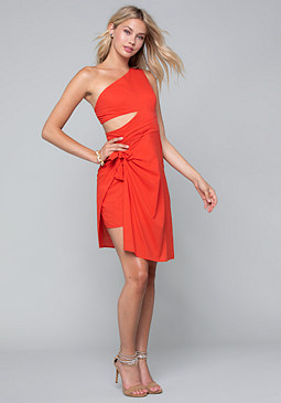 bebe Tie Overlay Dress