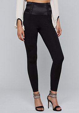 bebe Mesh Waist Leggings