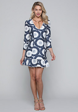 bebe Sunfloral Mini Dress