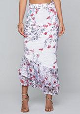 bebe Lace Ruffled Skirt