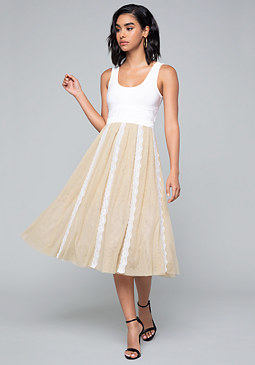 bebe Misty Tulle Dress