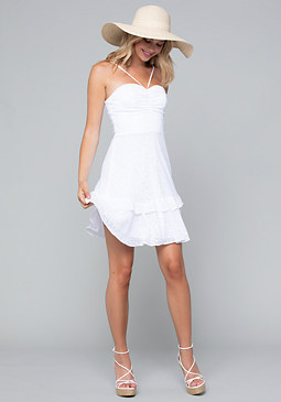 bebe Ruched Sweetheart Dress
