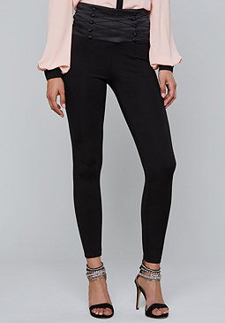 bebe Button Corset Leggings