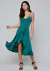 bebe Cascading Ruffle Dress