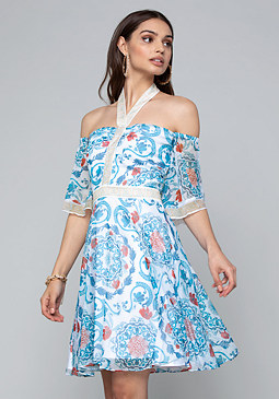bebe Off Shoulder Dress