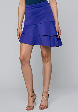 bebe Asymmetric Tiered Skirt