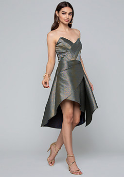 bebe Asymmetric Wrap Dress