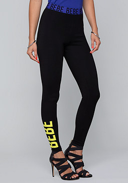 bebe Neon Logo Leggings