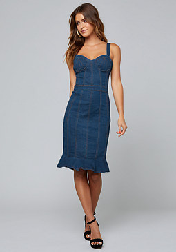 bebe Lorent Denim Dress