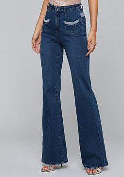 bebe Ally Flared Jeans