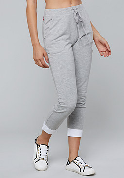 bebe Logo Poplin Mix Pants