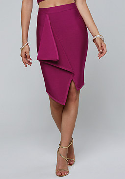 Lia Drape Bandage Skirt at bebe