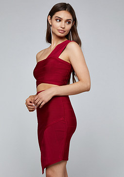 bebe Liz Bandage Crop Top