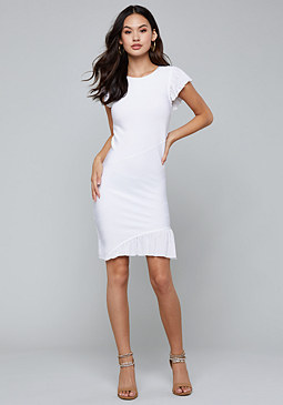 bebe Asymmetric Bandage Dress