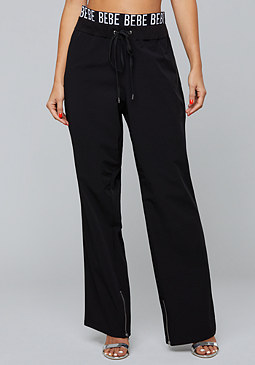 bebe Logo Tech Zip Pants