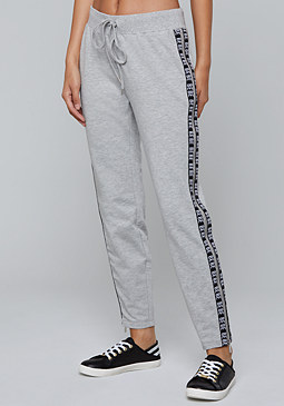 bebe Logo Side Zip Crop Pants