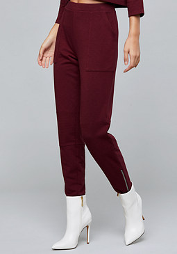 bebe Quilted Knee Sweatpants