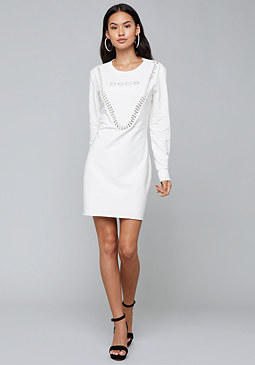 bebe Logo Chain Detail Dress