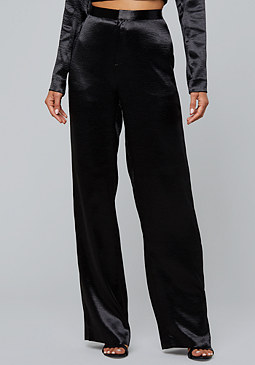 bebe Hammered Satin Pants