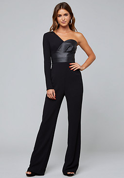 bebe One Shoulder Jumpsuit