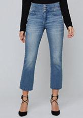 bebe Alysanne Flared Crop Jeans