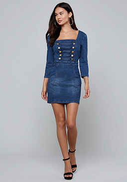 Laena Denim Dress at bebe