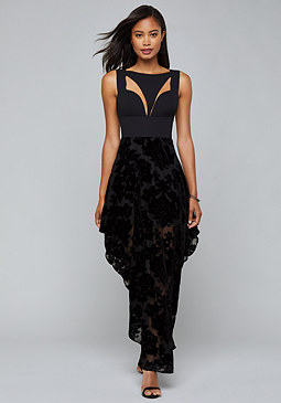 bebe Cutout Detail Burnout Dress