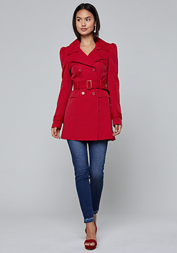 bebe Puff Sleeve Trench Coat