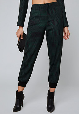 bebe Houndstooth Jogger Pants
