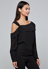 bebe Extended Cuff Blouse