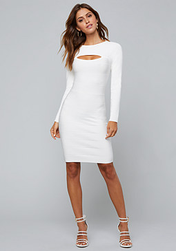 bebe Peekaboo Bandage Dress
