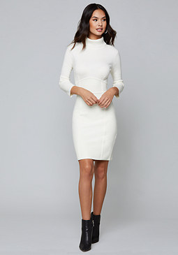 bebe Turtleneck Sweater Dress