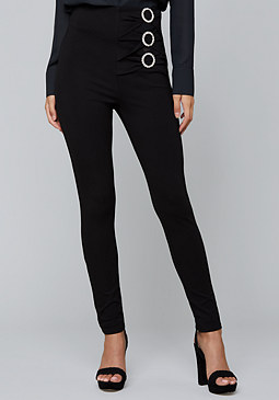 bebe Crystal Ring Leggings