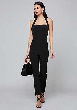 bebe Open Back Skinny Jumpsuit