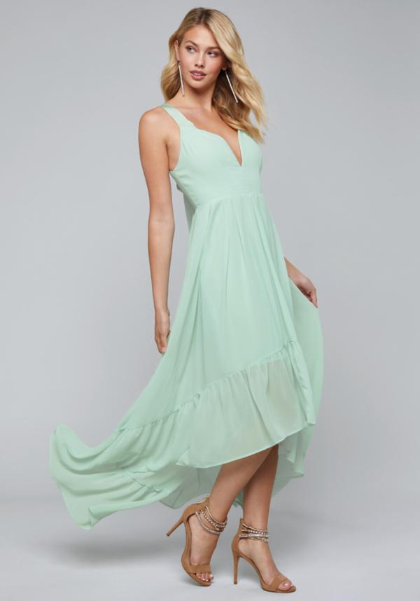 Chiffon Hi-Lo Maxi Dress | Tuggl