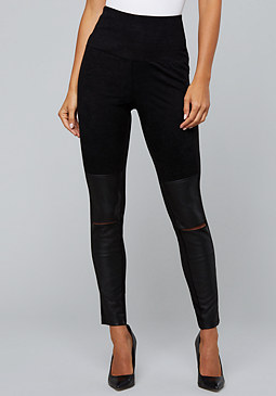 bebe Split Knee Leggings
