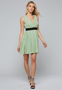 bebe Pleated Mini Dress