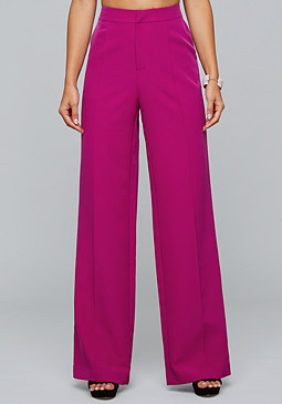 bebe High Waist Stretch Trousers