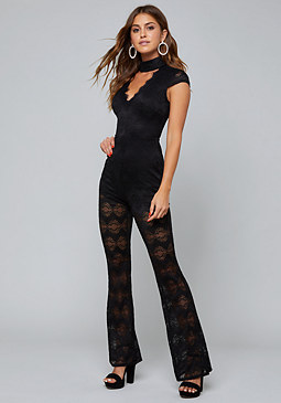 bebe Addison Lace Jumpsuit