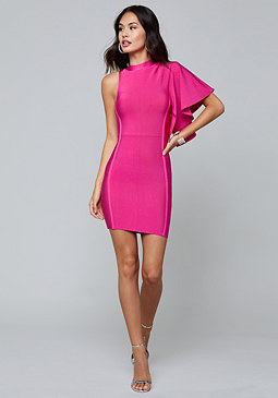 bebe One Sleeve Bandage Dress